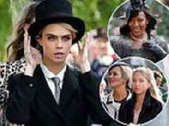 Princess Eugenie and Jack's royal wedding: Cara Delevingne, Naomi Campbell and Kate Moss attend