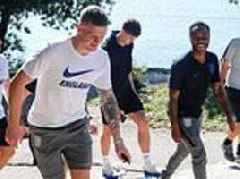 England stars take a walk in before Nations League clash with Croatia