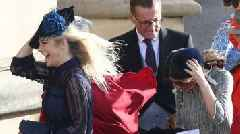Royal wedding: Celebrities and royal family arrive in windy weather