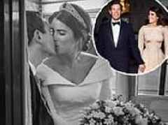 Princess Eugenie looks resplendent in first official pictures of her spectacular wedding