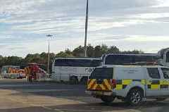 Air ambulance lands at Stansted Airport as firefighters and paramedics rush to 'medical emergency'