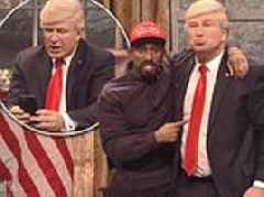 Saturday Night Live opens with a parody of Kanye West and Donald Trump's bizarre Oval Office meeting
