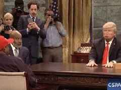 Watch: SNL Reenacts Kanye West & Donald Trump White House Meeting In Savage Fashion