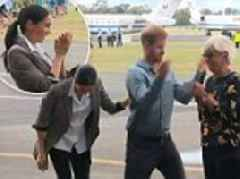 Prince Harry has onlookers in hysterics as he playfully swats flies