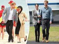 Pregnant Meghan and Harry royal tour: Body language expert reveals meanings of holding hands