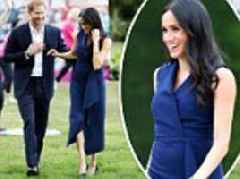 Royal tour: Meghan Markle touches down in Melbourne wearing navy blue Dion Lee dress