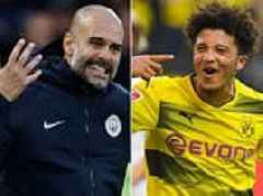 Pep Guardiola doubts Jadon Sancho will ever make a return to Manchester City