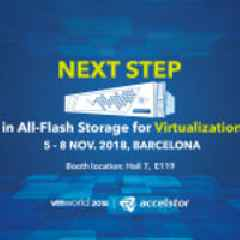 AccelStor Unveils the Next Step AFA Solution for Virtualization at VMworld 2018