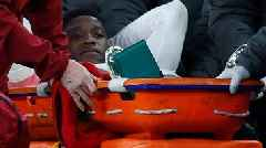 Arsenal v Sporting Lisbon: Danny Welbeck carried off on stretcher