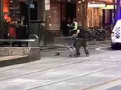 Bourke Street attack: Brave man charges at terrorist with shopping trolley