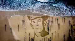 Watch: Haunting image of World War One soldier appears on Northern Ireland beach