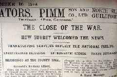 How Surrey greeted the end of the First World War