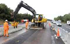 Roadworks on the M6, A500 and A50 this week