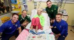 Northern Ireland and Republic of Ireland stars come together for hospital visit