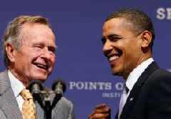 Patriot and humble servant: Rivals and proteges remember president Bush