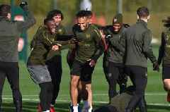 Picture special: Injury boost for Arsenal vs Manchester United - but key star misses training