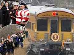 George H.W. Bush's final journey will be by train as his casket is taken from Houston to Texas A&M
