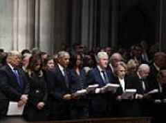 Trump is under fire for not reciting The Apostles' Creed during George H.W. Bush's funeral