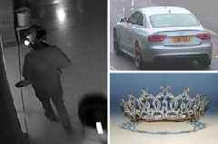 Watch the moment brazen thieves use drills to steal nationally treasured Portland Tiara from Welbeck Estate