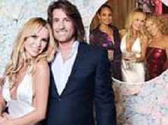 Amanda Holden wows in slinky bridal-style gown as she celebrates tenth wedding anniversary