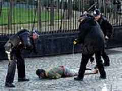 Man 'is tasered and pinned to the ground by armed police at Houses of Parliament'