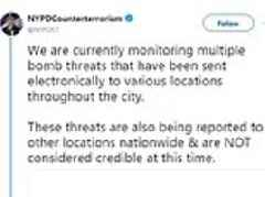 Bomb threats reported at news outlets, government buildings, schools and businesses across the US