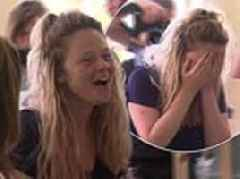 I'm A Celeb: Emily Atack breaks down in tears as she's greeted by a legion of fans during exit