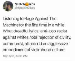 Dude Gets Roasted For Realizing That Rage Against The Machine Lyrics Aren't Centrist