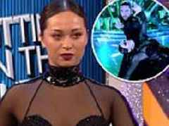 Strictly's Katya Jones slips back into Matrix costume she wore week of THAT kiss with Seann Walsh