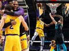 LeBron James and Lonzo Ball record triple-doubles in Charlotte win