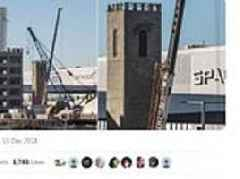 Elon Musk builds WATCHTOWER outside the SpaceX factory ahead of Boring Company's first tunnel launch