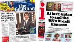Newspaper headlines: 'Battle over second Brexit vote' and 'Geraint's glory'