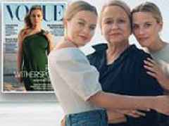 Reese Witherspoon poses with her mother Betty and daughter Ava for Vogue