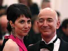 If MacKenzie Bezos gets half of Jeff Bezos' fortune, she'd become the fourth-richest person in the world — and he'd fall from No. 1