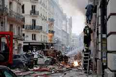 Three dead in Paris bakery gas explosion as firefighters pull victims from windows