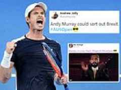 'He could sort out Brexit': Fans in awe of Andy Murray's display at Australian Open