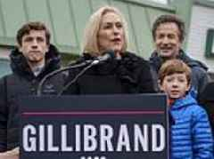 British financier stands next to his wife Kirsten Gillibrand as she announces Presidential run