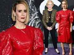 Sarah Paulson brings the wow factor to the Glass premiere in LA with partner Holland Taylor