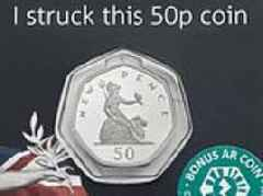 The public can now strike their own 50p 'New Pence' coin in celebration of it's 50th anniversary