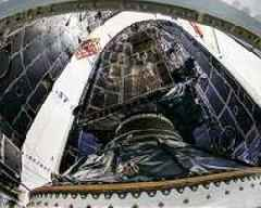 First Lockheed Martin-Built GPS III satellite encapsulated for Dec. 18 launch