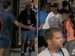 Fans love it as Roger Federer and Rafael Nadal nonchalantly greet each other