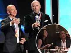 Jeff Bezos ditches his wedding ring (and mistress) at gala and is seen with wife MacKenzie in Aspen