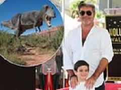 TALK OF THE TOWN: Simon Cowell makes sure son Eric has the T-Rex factor