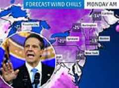 Governor urges New Yorkers to stay indoors as extreme cold weather blights the state