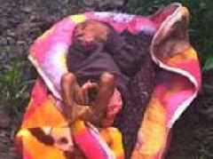 Three-week old baby girl buried alive in northern India rescued after locals hear her crying