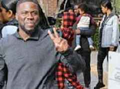 Kevin Hart flashes peace sign during family lunch as he thanks fans for supporting The Upside