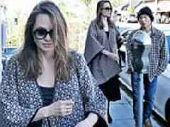 Angelina Jolie seen for the first time since claims Brad Pitt is dating Charlize Theron