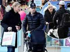 Declan Donnelly and wife Ali Astall enjoy stroll with baby daughter Isla