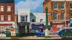 An artist's paintings of East End London are finally gaining recognition