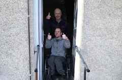 Builder steps in to build ramp for disabled Larkhall man